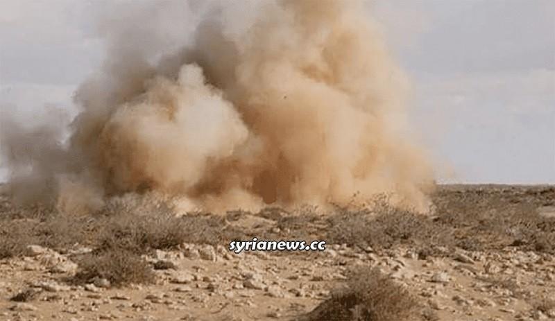 Landmine explosion Syria - IED improvised explosive device - archive