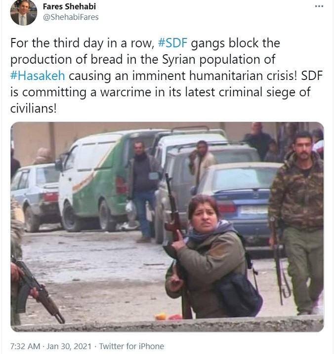 kurdish sdf woman armed terrorist