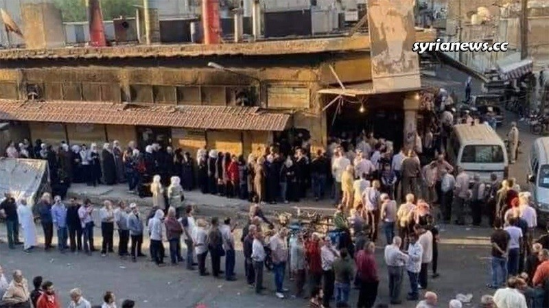 Bread shortage in Syria because of the US blockade and looting Syria's wheat