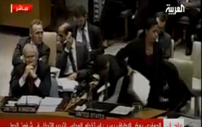 Susan Rice undiplomatically walks out of UNSC meeting.