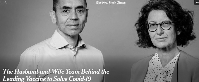 NYT ignores VAERS, cheers founders of BioNTech