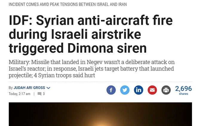 Israel 's IDF comes up with absurd backstory