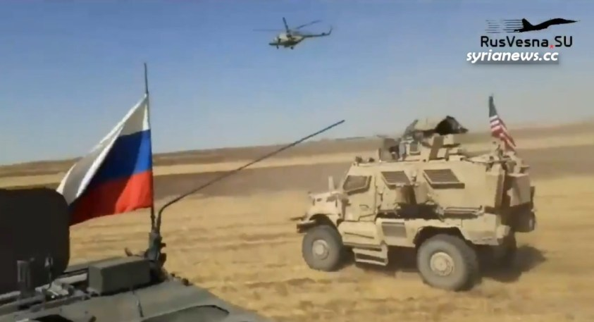Russian forces ram into US oil thieves in northern Syria
