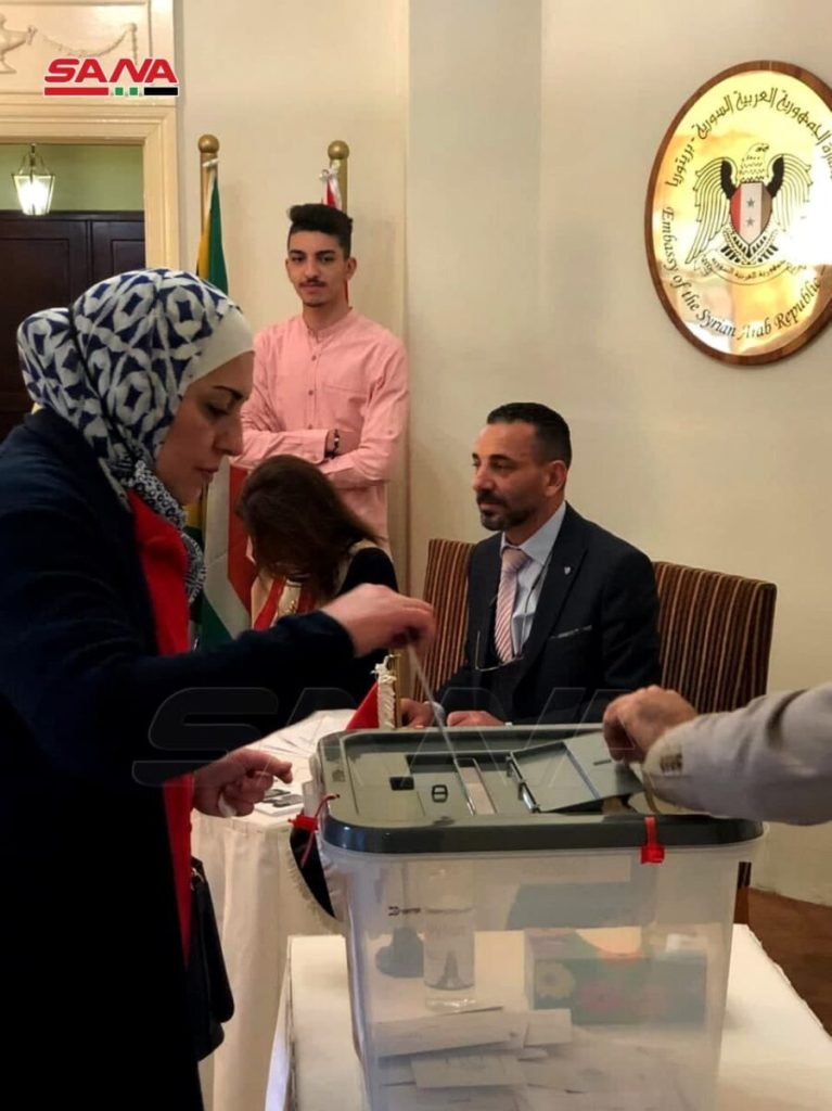 South Africa - Syrian Presidential Election