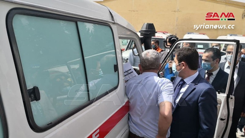 Syria receives 40 ambulances from the World Health Organization