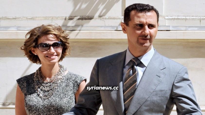 Syrian President Bashar Assad and First Lady Asmaa Assad