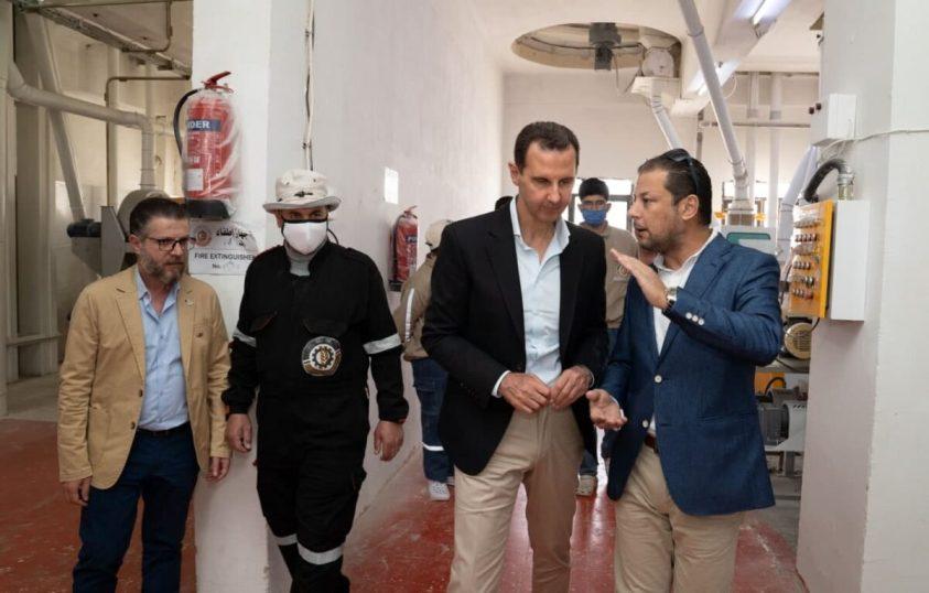 President Assad in Hassia, Homs