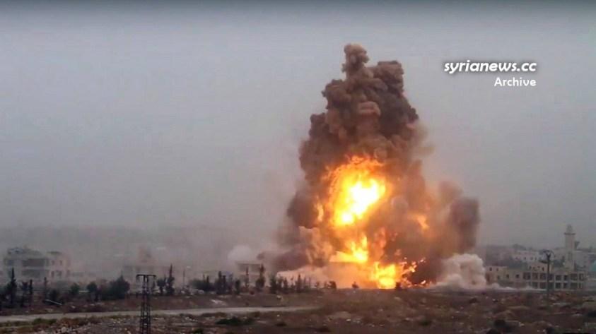Landmine explosion in Syria - archive photo