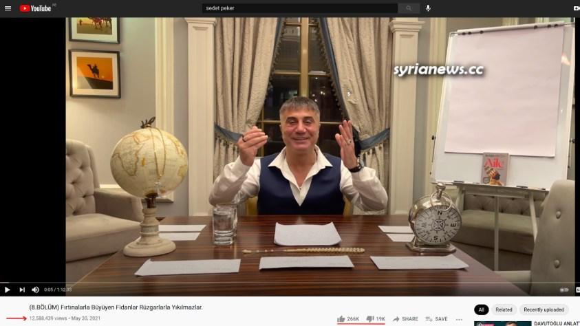 Sedat Peker Turkish Mafia Boss YouTube Views