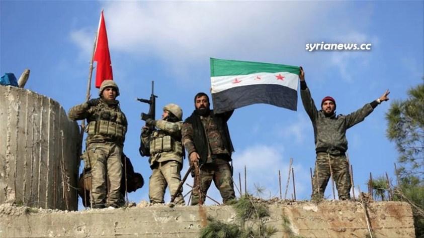 Turkish army and al qaeda terrorists in northern Syria