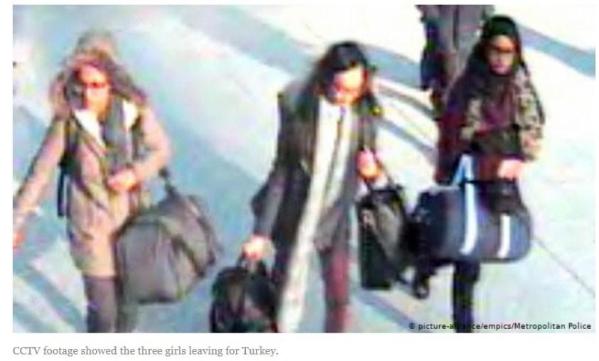 Shamima Begum enroute to Turkey.