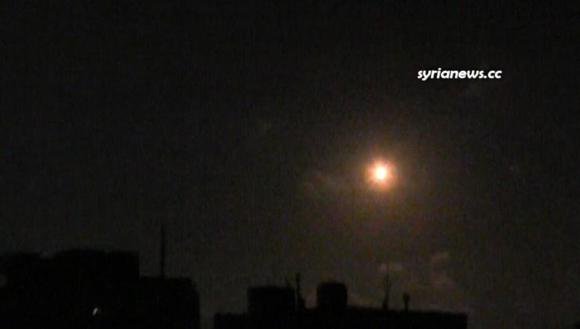 Israel bombs Al Qussayr Homs Syria 22 July 2021