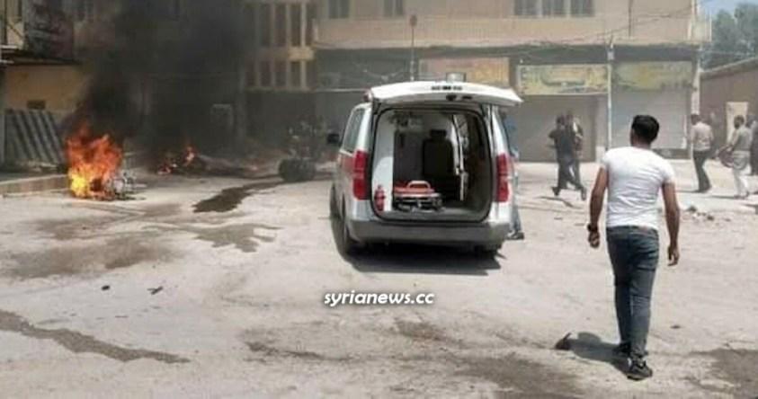 Motorbike explosion kills and injures Kurdish SDF terrorists and Syrians in Ash Shaddadi