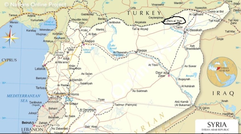 Alouk power and water plant is in Ras al Ayn, Syria.