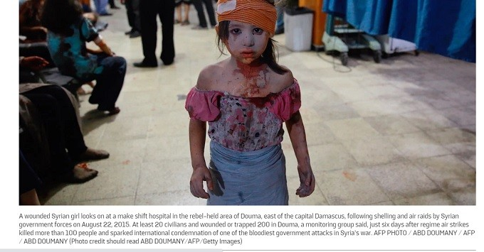This is what al Qaeda does to little Syrian girls.