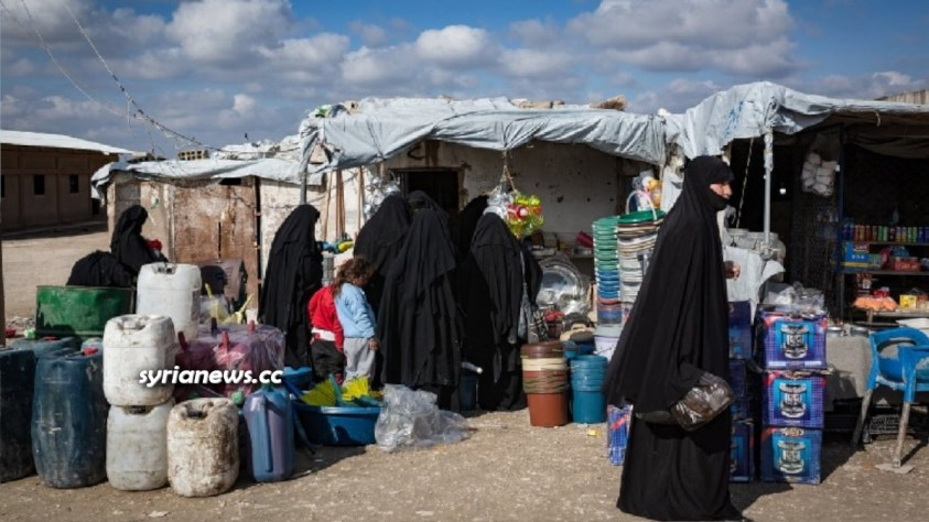 Al-Hol concentration camp for Syrian and Iraqi refugees in Hasakah - Syria run by Kurdish SDF terrorists