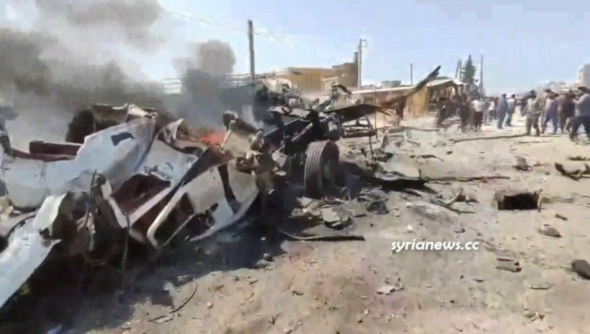 Truck explosion in Azaz - Aleppo