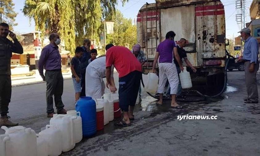 Turkish regime of Erdogan continue cutting the water off 1 million Syrians in Hasakah