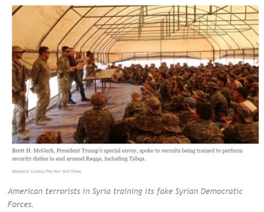 Military terrorists in Syria.