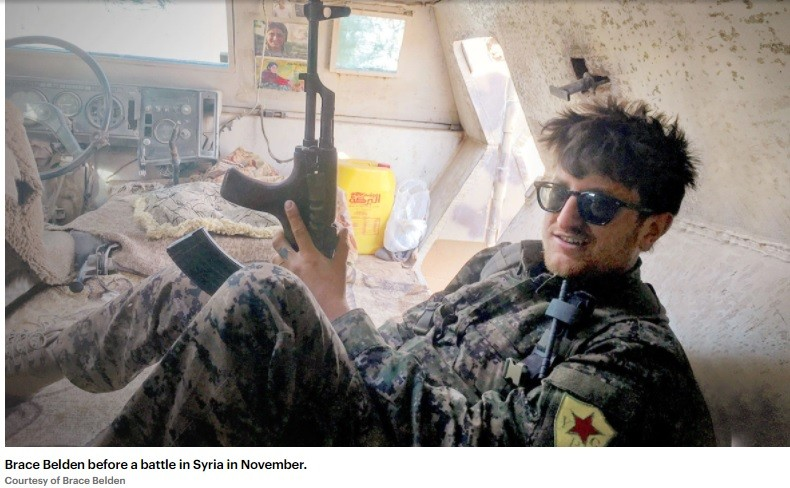 American terrorist Belden did not fight Taliban; he invaded Syria and helped destroy an entire city.