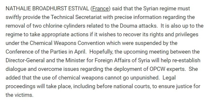 UNSC member France projecting its crimes onto Syria.