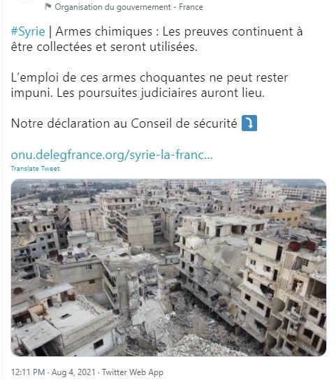 UNSC member France threatened Syria, again.