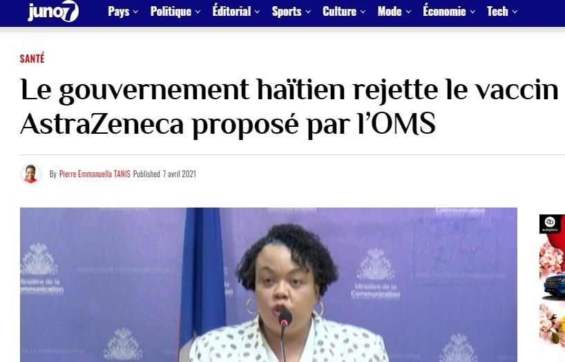 Haiti has a long history of ivermectin use.