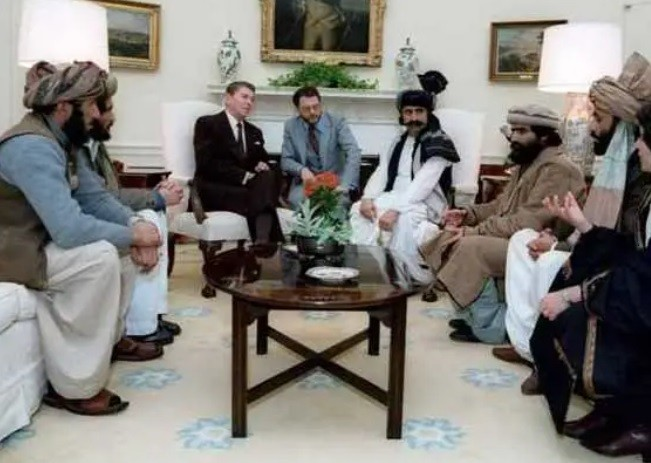 Mujahedeen, not Taliban, invited to Reagan White House.