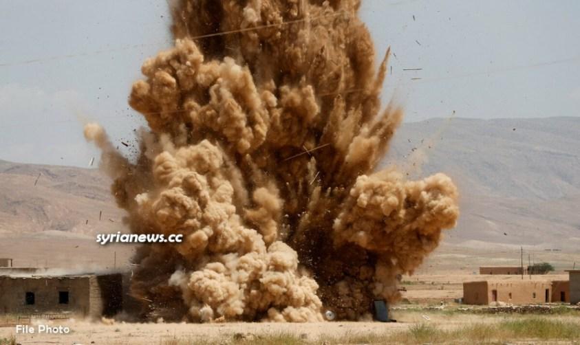 Landmine explosion in Syria - file photo
