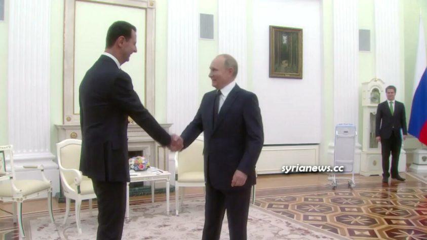 President Bashar Assad meets President Vladimir Putin in Moscow