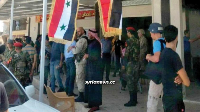 Syrian Arab Army restores Daraa Balad, Syrian flag raised inside the district