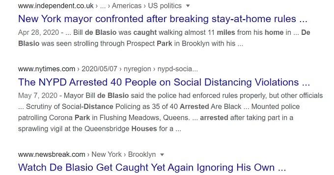 de Blasio resurrected Bloomberg's racist 'Stop & Frisk,' for anti lockdown 'criminals.'