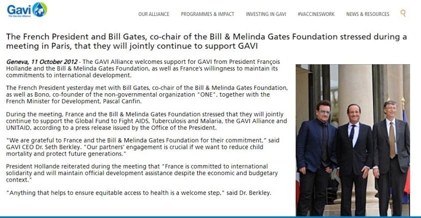 Pre-Guterres: Munchins Bono, unindicted war criminal Hollande, Gates at One Planet, 2012.