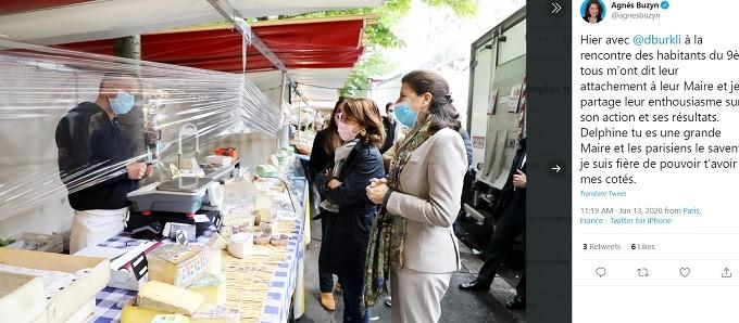 Agnès Buzyn campaigning for mayor, June 2020