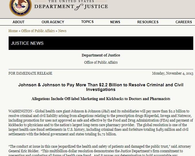 de Blasio will offer the massively corrupt J&J's Janssen