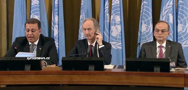 Syrian Constitution Committee meeting in Geneva w UN Special Envoy Geir Pedersen
