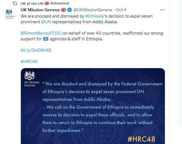 UK rep to the UNSC did not tweet about the chemical scam.