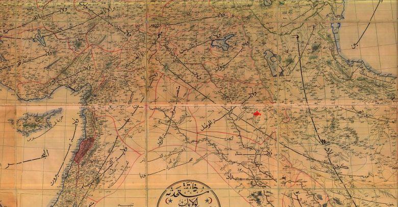 التقسيم الإداري في سورية أواخر الحكم العثماني