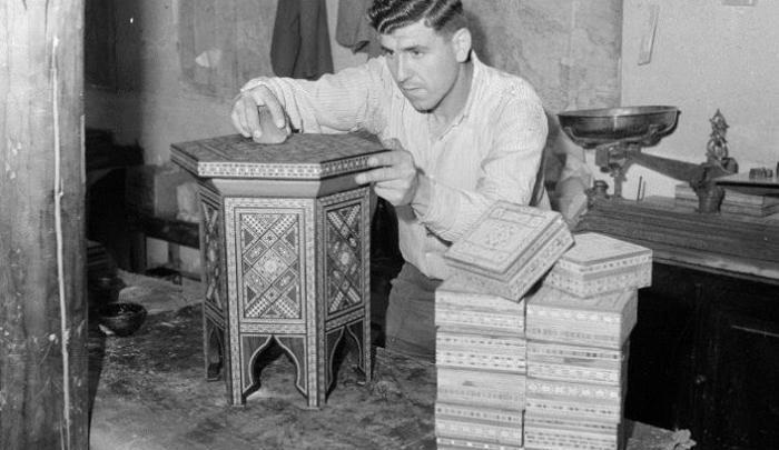 دمشق 1950: صناعة الخشب المطعم بالصدف