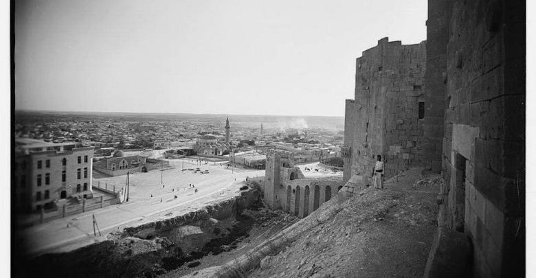 حلب: صورة للمدينة من القلعة عام 1936