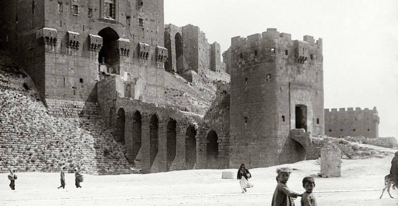 قلعة حلب حوالي عام 1900