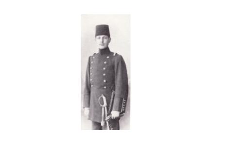 يوسف العظمة في ثياب التخرج من الكلية الحربية في أيار 1904م