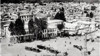 محلة المرجة وأسواقها عام 1912