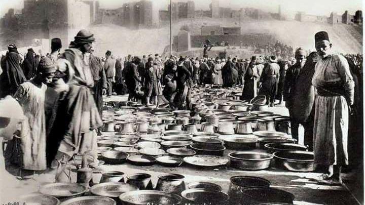 قلعة حلب - سوق الجمعة - أوائل القرن العشرين