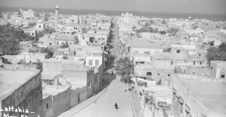 اللاذقية : صورة ملتقطة من مسجد المغربي عام 1955م..