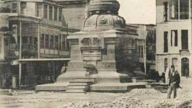 دمشق - تأهيل النصب التذكاري بمناهل للمياه 1917