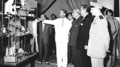 الرئيس شكري القوتلي يفتتح معرض دمشق الدولي الثاني عام 1956