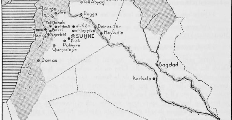 خريطة فرنسية لسورية عام 1935