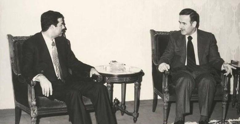 نائب رئيس الجمهورية صدام حسين يلتقي الرئيس حافظ الاسد  1979