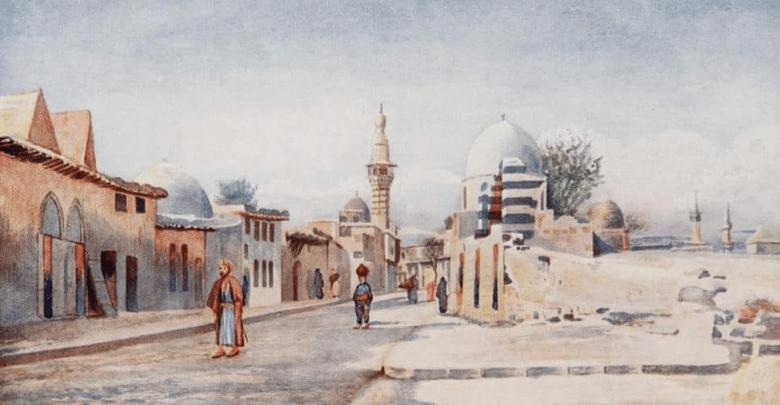 دمشق من جهة مقبرة باب الصغير 1907م
